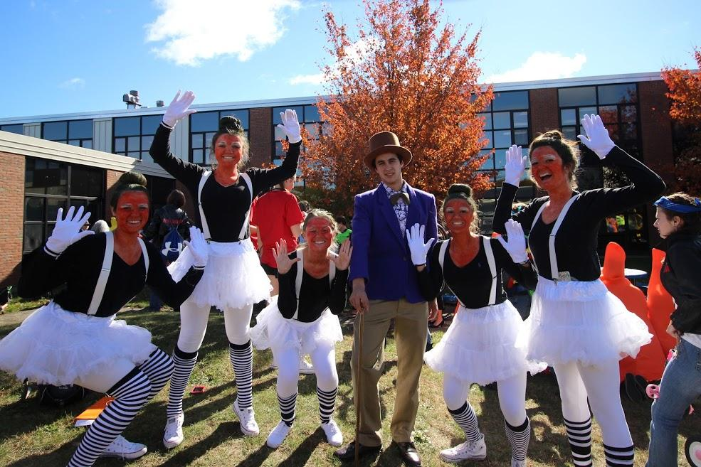 Willy Wonka and a crew of Oopma Loompahs made an appearance Monday as part of Senior Halloween.