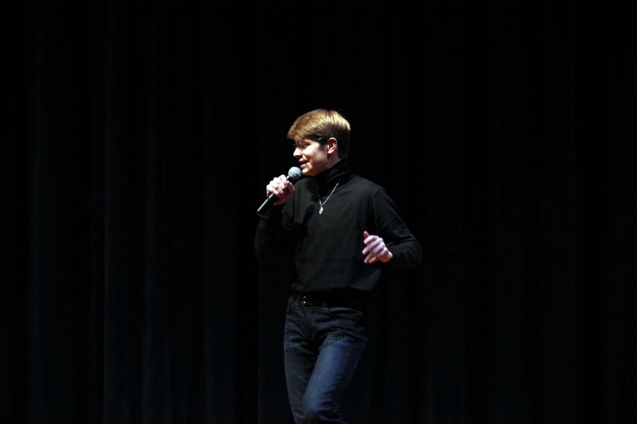 "Mr. Mills 2016 J.D. LaBerge performs an acoustic rendition of the Sir Mix-A-Lot song ""Baby Got Back."""