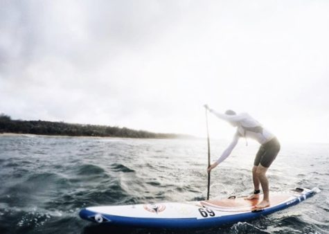 On the water, student aims to just keep paddling