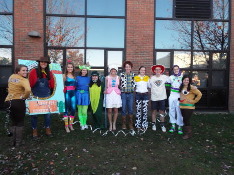 Halloween tradition continues in wild display of senior creativity