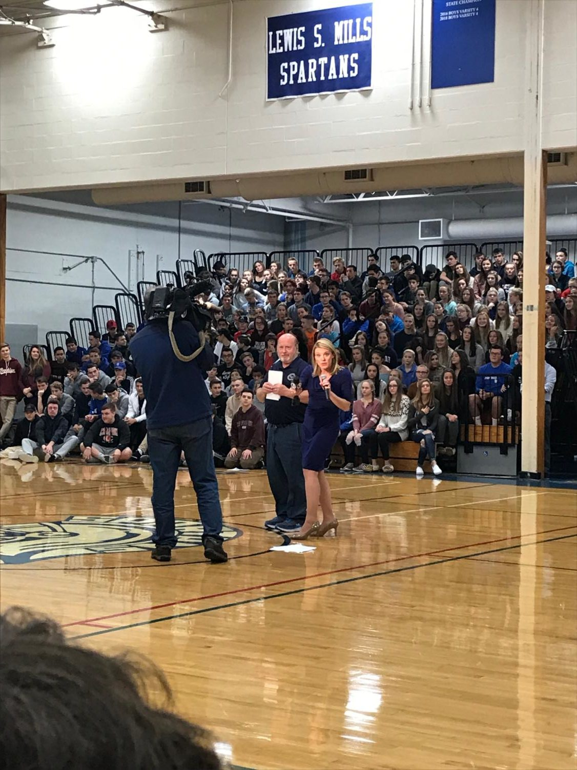 A reporter from WFSB Channel 3's Surprise Squad announced a special honor for LSM custodian Lowell Wortman last week in front of the entire school. The segment airs Dec. 6 at 5:30 p.m.