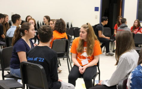 Students participate in a school climate summit recently held at Mills, the second gathering of its kind held for Berkshire League schools.